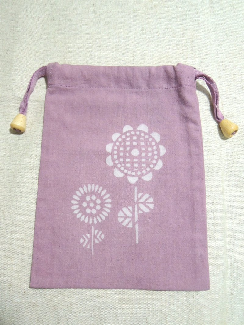 Mumu [vegetation] lac dye dyed purple Pouch (Sunflower paragraph)