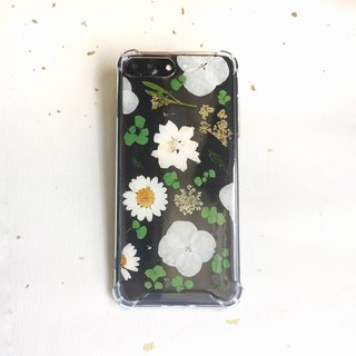 Summer solstice flower embossed phone case