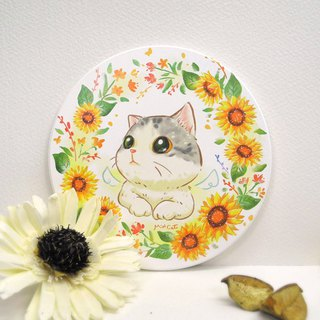 Sunflower bowl ceramic absorbent coasters