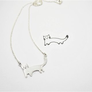 Children's painting accessories / cat necklace