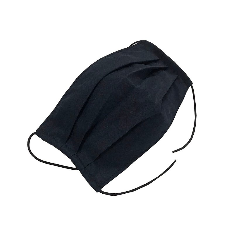 Black adult cloth mask cover / extra inner and outer layers (lightweight)