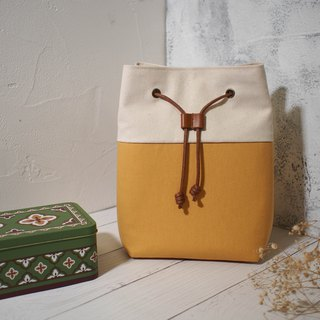 Traveler series cross-body bag / bucket bag / limited manual bag / honey yellow / off-the-shelf