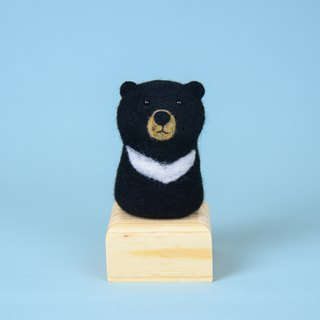 """All 8 folds from the whole hall"" Flat nose treatment Animal wild animal Taiwan black bear wool felt decoration"