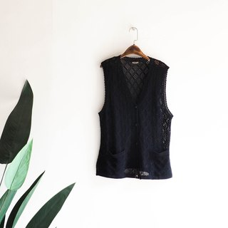 Saga Pure Black Grid Long Edition Pocket Fallen Love Handmade Antique Woven Vest Top Shirt