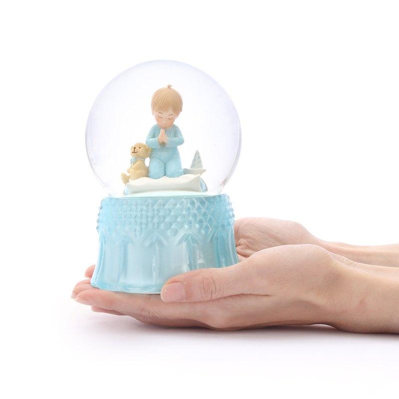 許願男孩 水晶球音樂盒  聖誕 生日  交換禮物 療癒紓壓 居家擺飾
