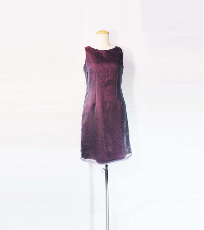 Wahr_ cover purple chiffon dress vest