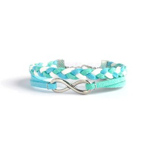 Handmade Double Braided Infinity Bracelets–colorful marshmallow