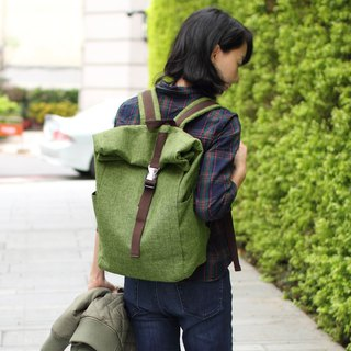 Candice Backpack(Height adjustable)- Green(15.6'' Laptop OK)_100453-50