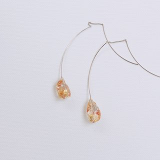 / Crystals no.1 / dried flowers specimen resin earrings