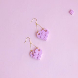 Summer honey  Pink silver LEGO earrings