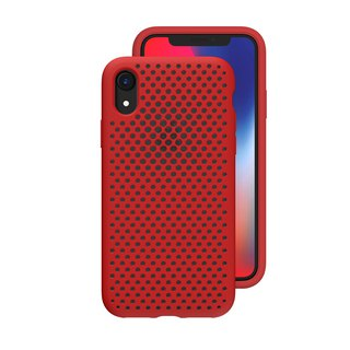 AndMesh-iPhone XR dot soft anti-collision protective cover - red (4571384959377