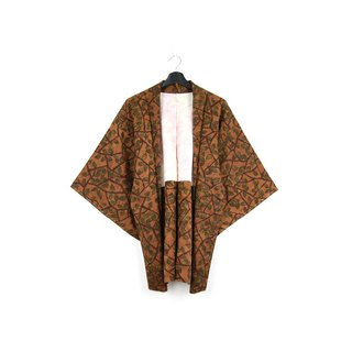 Back to Green-Japan brought back feather weave coffee wall leaves climbing vine / vintage kimono