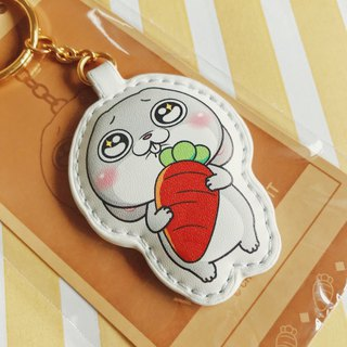 [I want to rabbit] - key ring. Radish leather charms, non-toxic Valentine's Day gifts