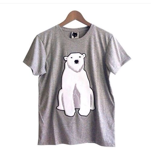 Foxpixel 3D Embroidery Tee with Bear