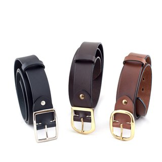 Be Two ∣ One plus one combination promotion _38mm Italian vegetable tanned leather belt (pure copper series)