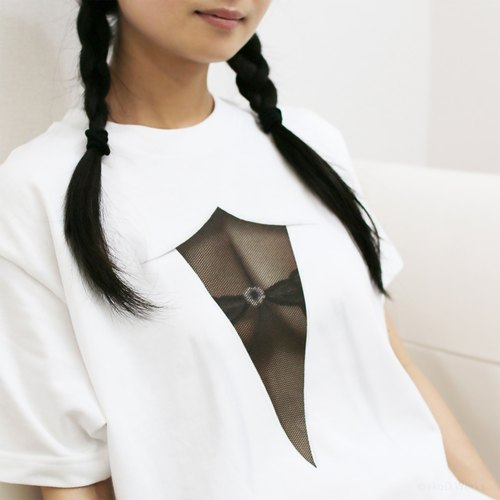 <Now on sale for a limited time! > Mousou See-through T-shirt/ MESH BLACK/ M size