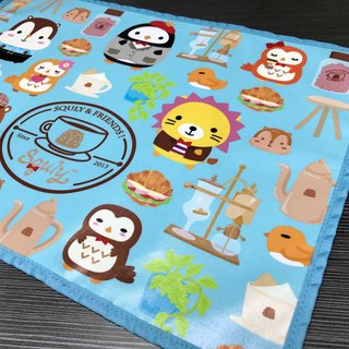 Squly & Friends Placemat (Cafe Element) - F004SQH