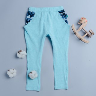 Sending bird trousers - cement lake water green hand made non-toxic children's trousers cotton