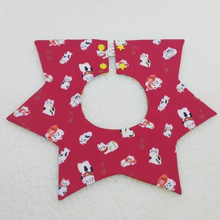Cat catch fish stars pocket / baby bibs / bibs