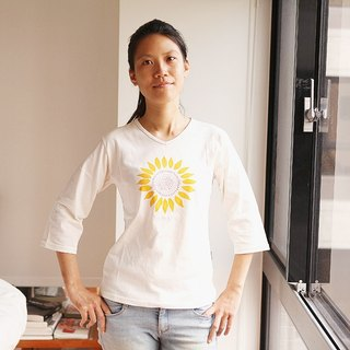 [Sunflower] organic cotton female version of the 7 points sleeve