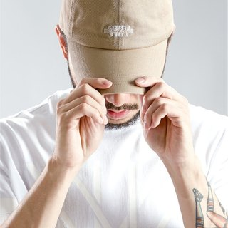 Retro baseball cap embroidered HWPD│ old beige earth tones (refer to Kanye West / Yeezy / Justin Bieber)