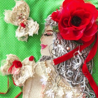 Come Je Suis  〜 be myself 〜  embroidery beads art handmade