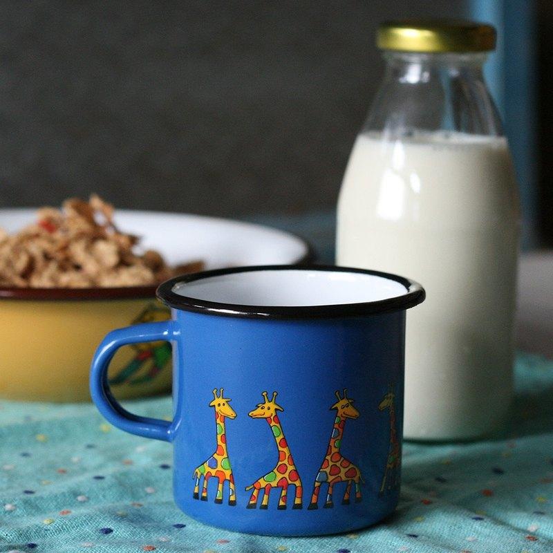 Smaltum布拉格 琺瑯杯 古錐長頸鹿_礦藍(285ml)(FDN000423)