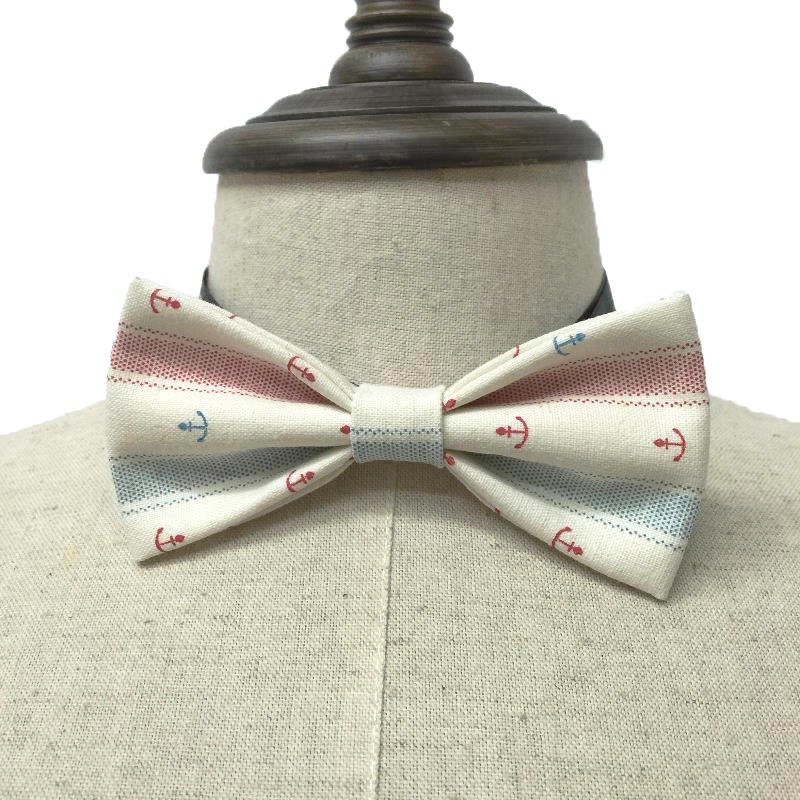 Fresh navy style anchor pattern hand-tie Bow Tie shooting performance props