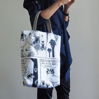 Limited edition Handmade Moomin Canvas tote bag