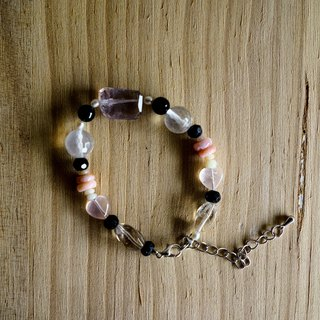 Natural stone bracelet - clear crystal