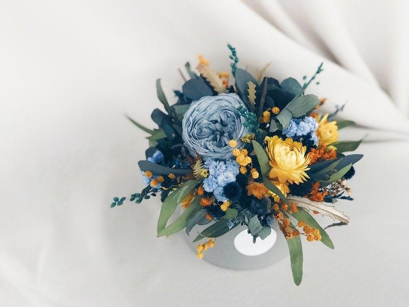 Flower Design!【海神-Poseidon】永生花 乾燥花 盆花 開幕 桌花