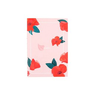 Flower bloom horizontal line notebook M size 02. A Furong