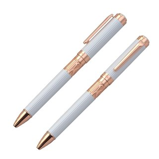 【Chris & Carey】 Toki Series / Straight Pearlescent White Atomic Pen TKBP-05