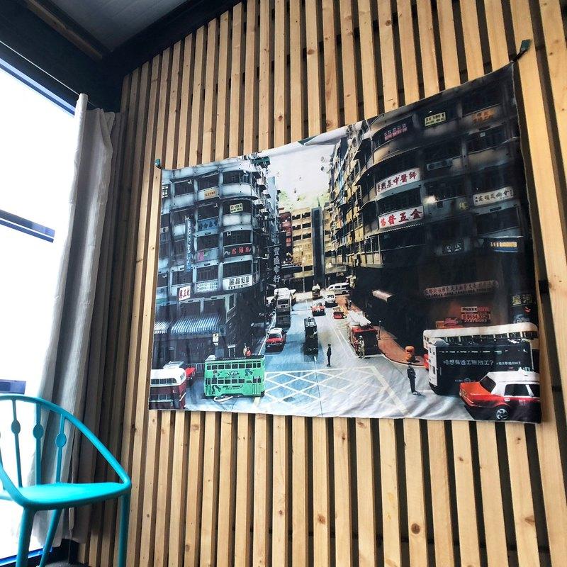 免費訂製你的專屬壁幔 家飾 布幔 BM01 街景 Wall Tapestry