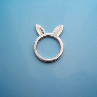 S Lee-925 silver hand for peace series - safe rabbit ring / pendant