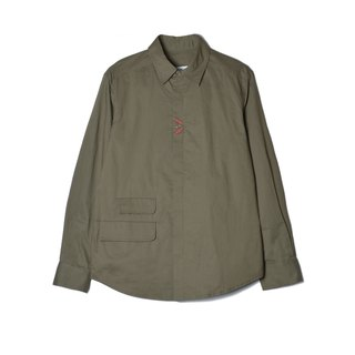 oqLiq - Display in the lost - Heart Shirt (Olive Green)