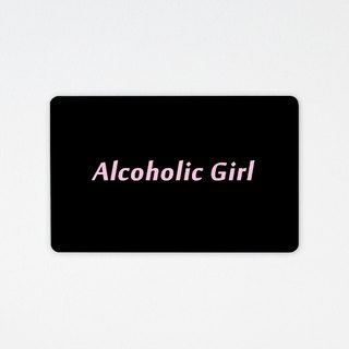 Drinking is not good | wafer leisure card (non-card stickers) two