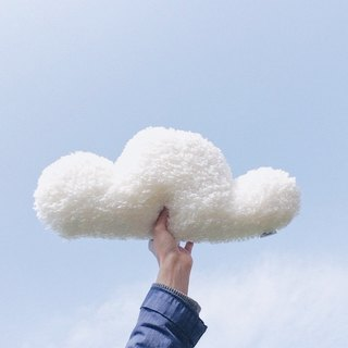 Cloud pillow / Handmade cushion - White Cloud