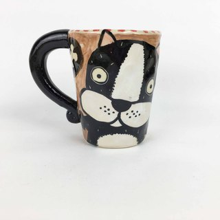 Nice Little Clay Mug Cute Dog 01061-04