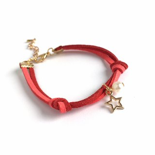 Handmade Simple Stylish Star Bracelets Rose Gold Series–red limited