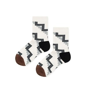 Hansel from Basel Geometric Stairs in Socks / Socks / Comfortable Cotton Socks / Women's Socks