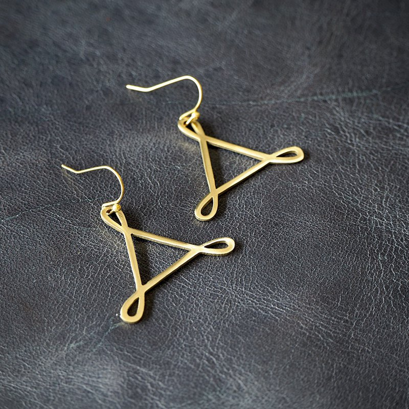Trinfinity earrings (brass hand made)