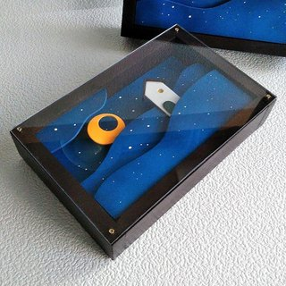 Acrylic cover included · Moon and house GO HOME