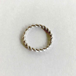 Sweet twist silver ring silver 925