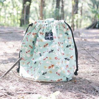 toutoubags/ beam port bag-goldfish(tiffany green)
