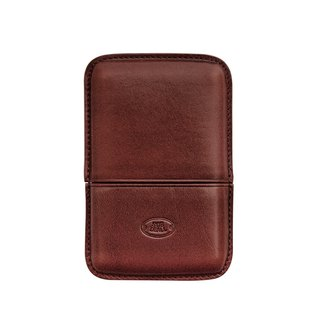 Leather removable business card holder