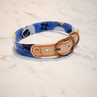 Dog collar l number of lover beetle single angle cents blue random cloth pattern can be added to the tag can be on the rope hoop around the pocket