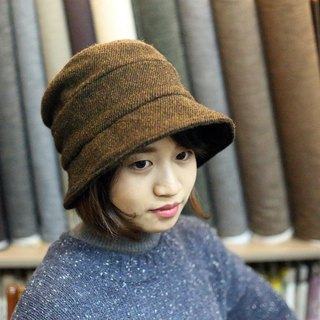 DIY hand made material package (non-finished) British wool cloth hat chestnut skin brown