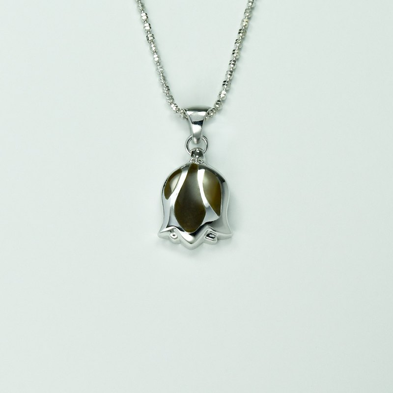 Tulip Necklace (Large)-Thick Olive