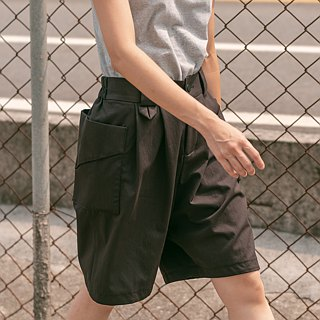 Elastic Folded Shorts_Dark Brown Neutral